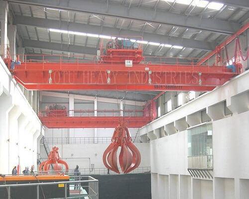 Grab bucket overheadcranes in steel industries for sale
