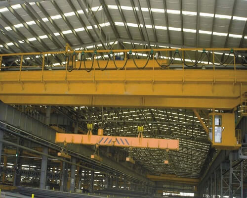 15t Magnetic Overhead Crane with Carrier Beam for Sale