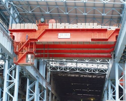 QD 550t Double Girder Overhead Crane with Hook