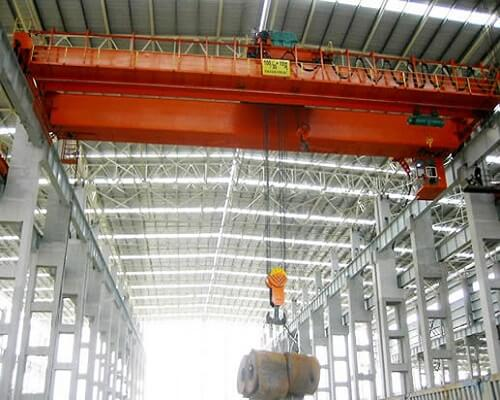 QD Double Girder Overhead Crane with Hook for Sale