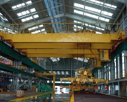 Retractable and 360 Rotary Electromagnetic Overhead Crane with Carrier Beam for Sale