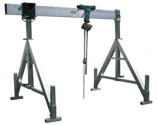 Dedicated Aluminum portable gantry cranes for sale