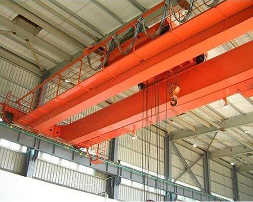 Warehouse Trolley Double Girder Overhead Crane for Sale