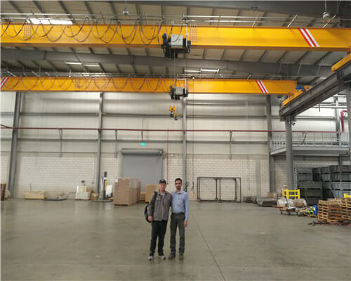 European Standard Single Girder Overhead Crane Installed in Saudi Arabia