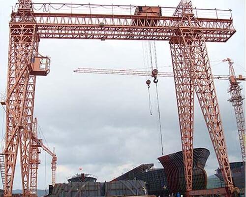Ellsen Low Cost Double Girder Gantry Crane for Sale