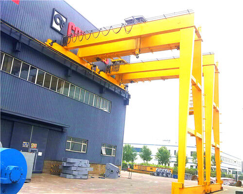 Double Girder Semi Gantry Crane for Sale