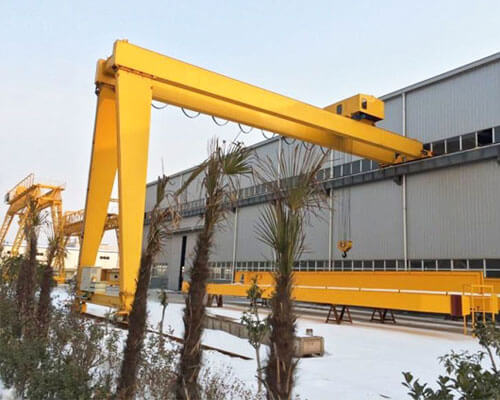 Double Girder Semi-gantry Crane Price