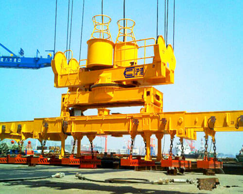 Electromagnetic Crane With Carrier Beam