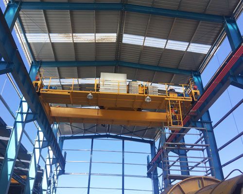 Heavy Duty Steel Structure With Crane System