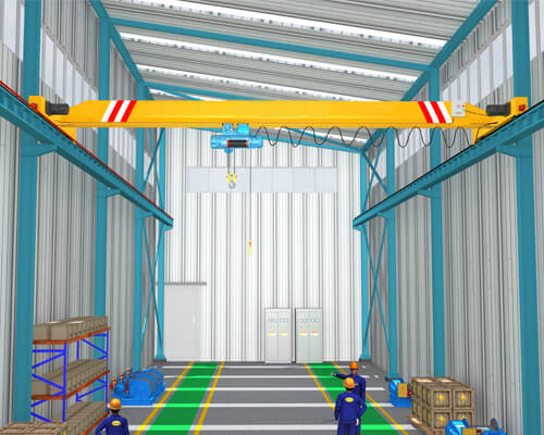 Light Steel Structure Warehouse With Overhead Crane System