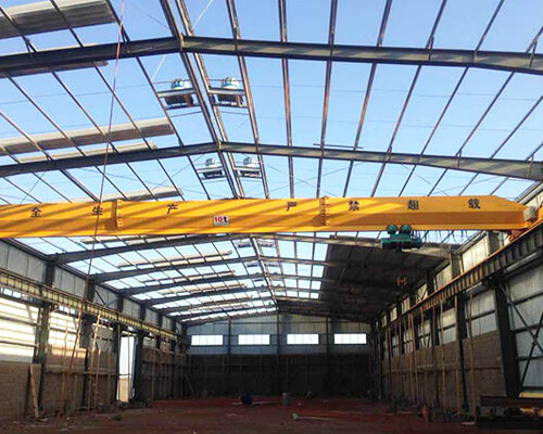 Light Steel Structure With 10 Ton Overhead Crane