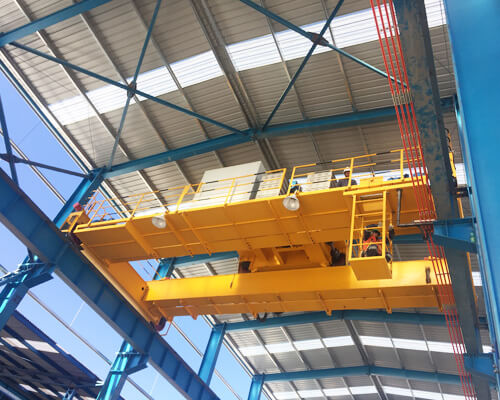 Steel Structure With Crane And Runway System