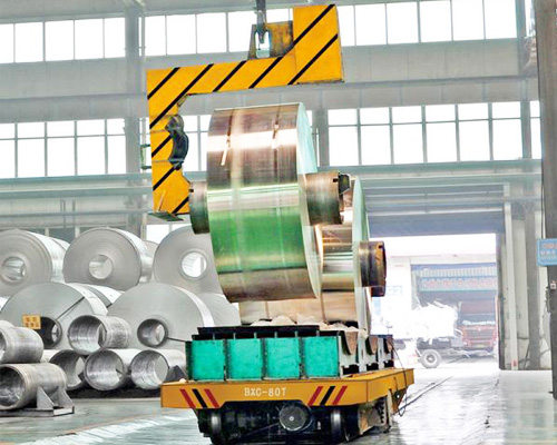 Electric Transport Cart Working With Overhead Crane