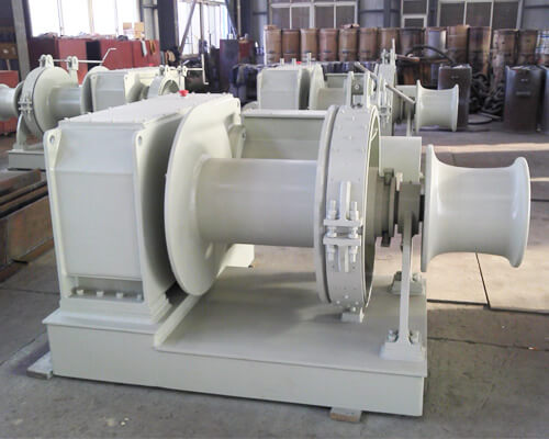 Rope Anchor Winch With Warping Head