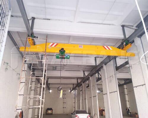 2T Underhung Crane Installation in Uzbekistan