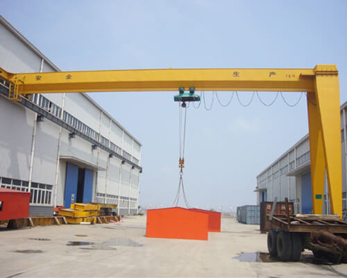 Single Girder Semi-gantry Crane for Sale