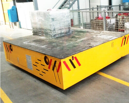 Trackless Electric Flat Cart for Sale