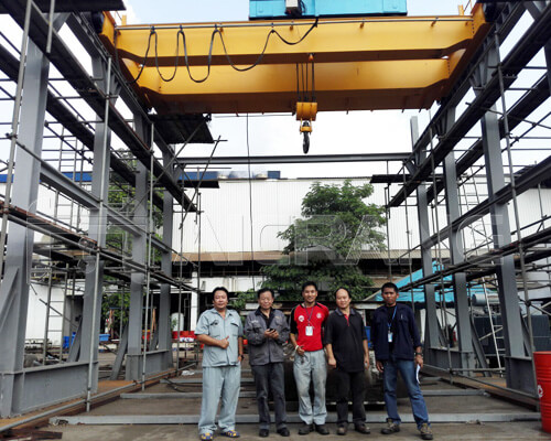 Aicrane Top Running Overhead Crane in Thailand