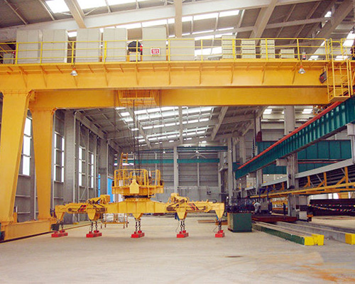 Double Girder Semi Gantry Crane For Slae