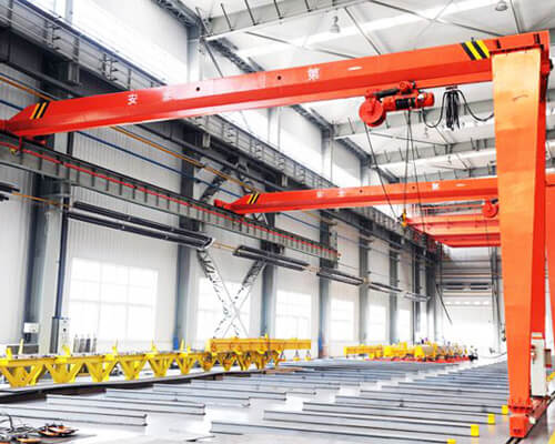 Single Girder Semi Gantry Crane Supplier