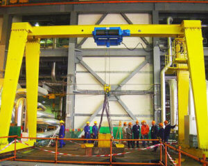 Single Girder Workshop Gantry Crane For Sale