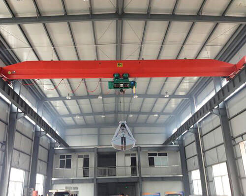 Single Girder Grab Crane For Sale