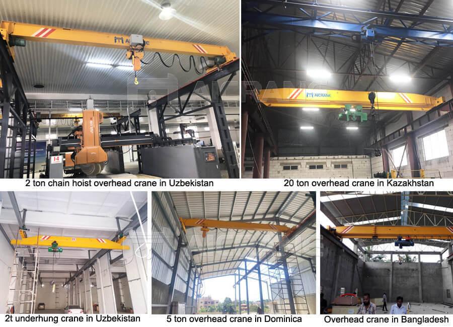 Single Girder Overhead Crane Cases