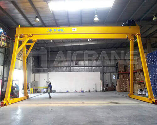 Double Girder Electric Hoist Gantry Crane Manufacturer