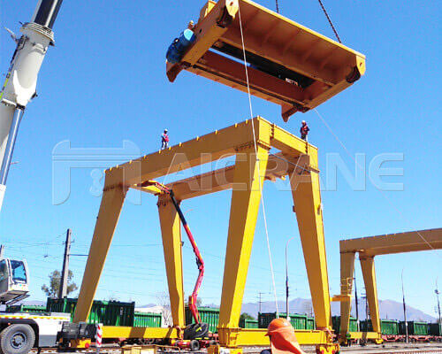 Double Girder Gantry Crane In Chile