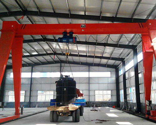China Single Girder Warehouse Gantry Crane