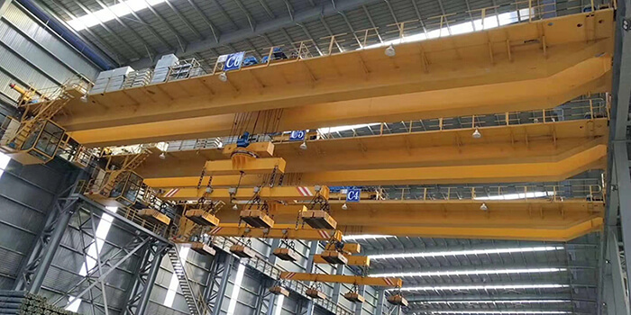 10T+10T Electromagnetic Overhead Crane for Sale