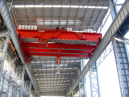 220T Casting Overhead Crane With Four-beam And Four-track Structure