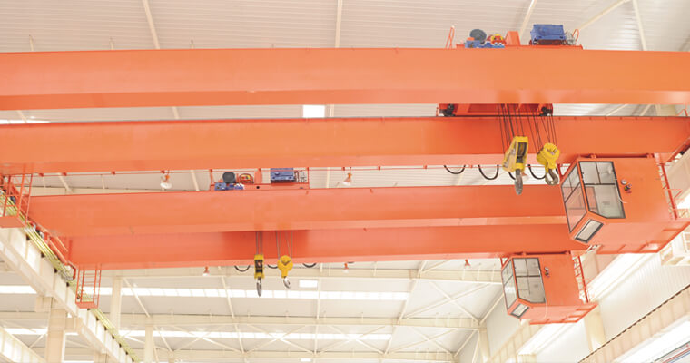 European Type Double Girder Bridge Crane 75 Ton