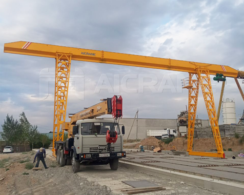 Single Girder 10 Ton Gantry Crane for Sale