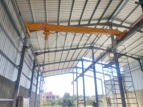 5 Tons Chain Hoist Overhead Crane for Dominican Customer