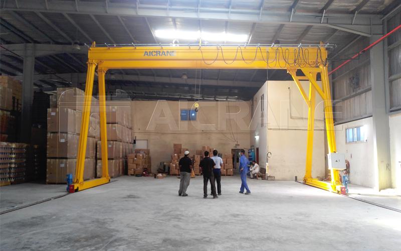 Double Girder 5 Ton Gantry Crane For Sale