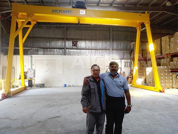 5 Ton Gantry Crane After-sales Service