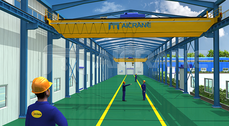 Overhead Crane And Steel Structure Factory Design