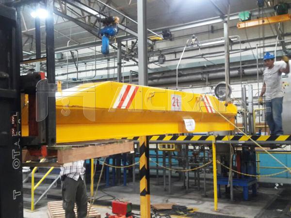 2 Ton Underhung Crane Installation in Workshop