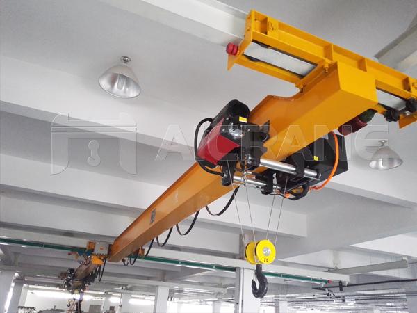 European Style 2 Ton Under Running Crane in Industrial Plant