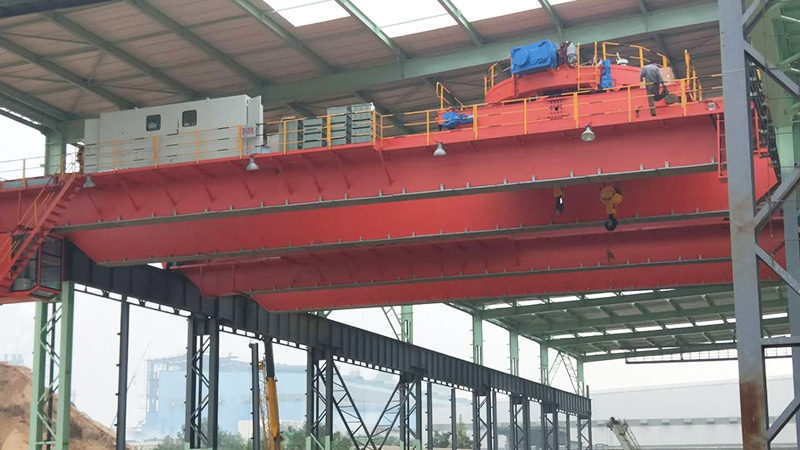 AQ-QCL 50 Ton Magnetic Overhead Crane With Carrier-beam