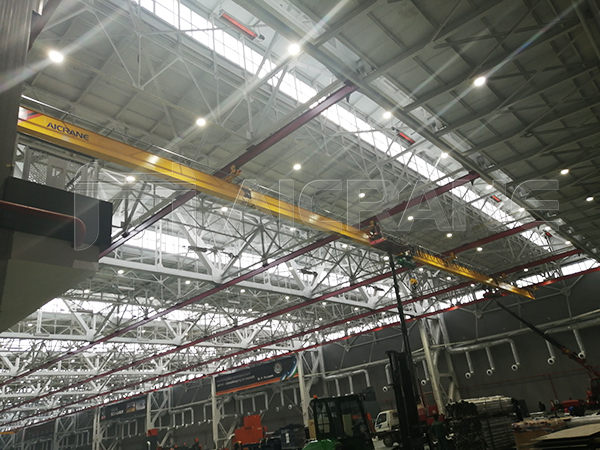 Multi-pivot Underhung Crane for Large-span Industrial Plant