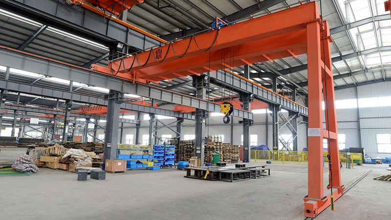 10 Ton Semi Gantry Crane in Workshop