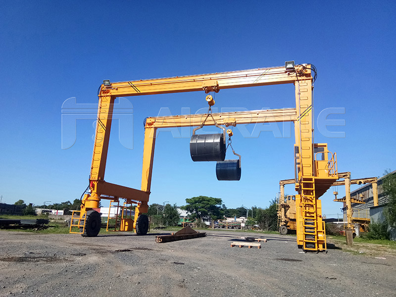 12.5T+12.5T Rubber Tyred Crane Manufacturer