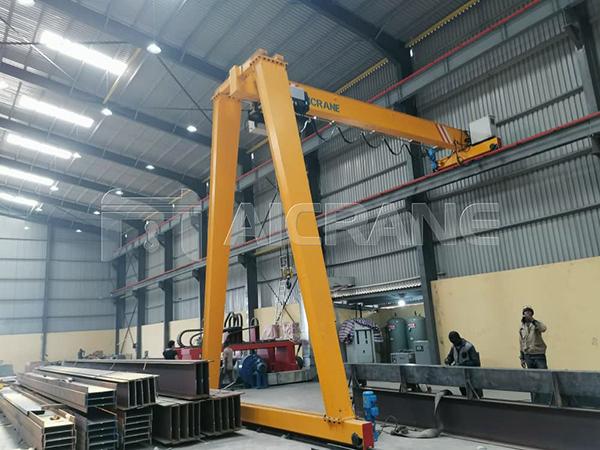 European Standard Semi Gantry Crane in Nigeria