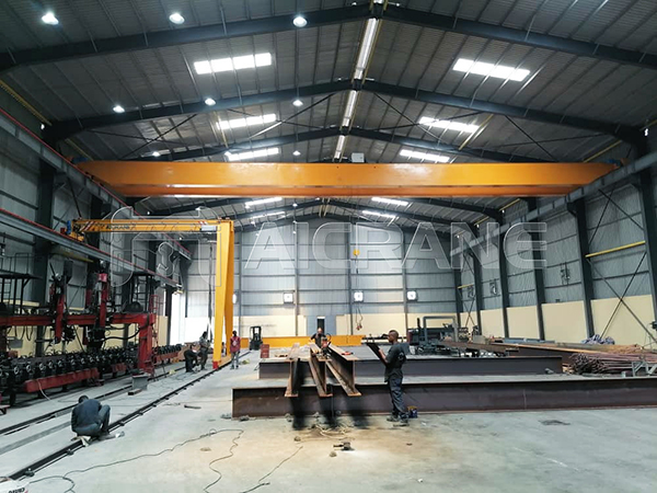 Single Girder Semi-portal Crane for sale