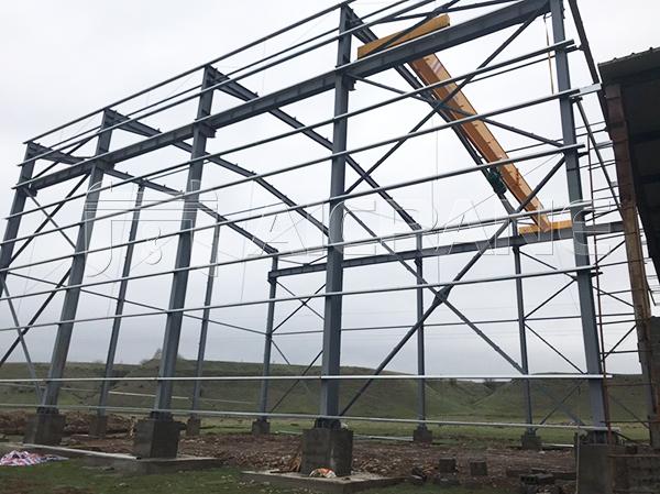 Steel Structure Warehouse in Uzbekistan