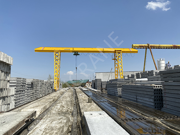 Single Girder Warehouse Gantry Crane For Sale