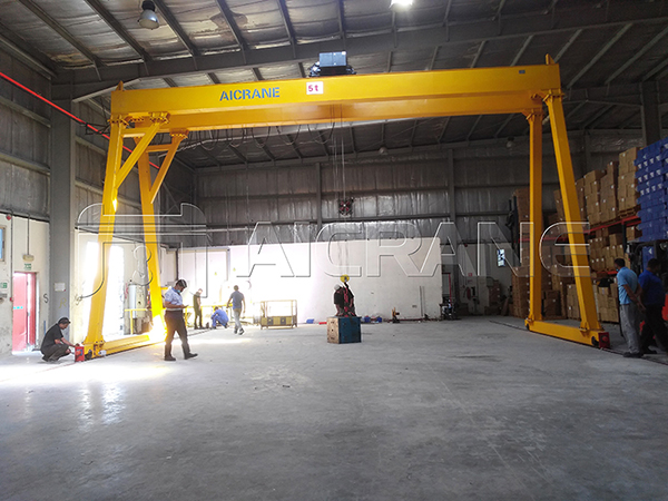 Double Girder Warehouse Gantry Crane Supplier
