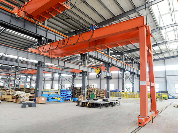 Double Girder Semi Gantry Crane for Warehouse